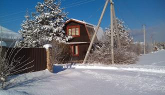 Зимний день на даче
